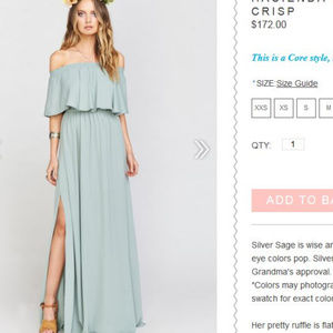 show me your mumu Hacienda bridesmaid dress sage